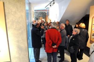 Un momento de la visita guiada al Museo.