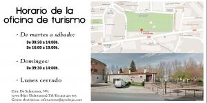 Horarios y localización de la oficina de turismo de Béjar